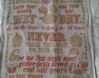 Funny Printed Tea Towel