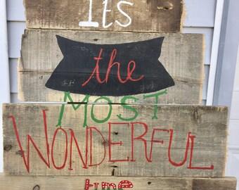 Christmas sign Barn Wood decor