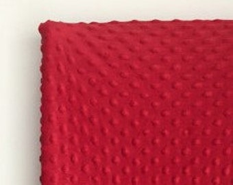 Red - All Sizes Minky Sheets or Changing Pad - Standard, Mini, Pack N Play Sheet or Changing Pad Cover - Red