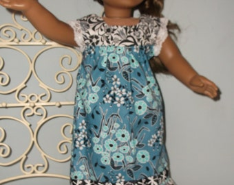 18 Inch doll maxi dress perfect for current boho style or hippie dress by Project Funway on Etsy