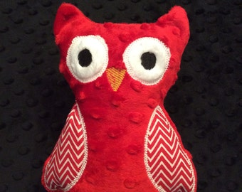 Red Minky Owl, CLEARANCE SALE