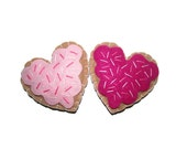 Cat Toy - Heart Shaped Catnip Kitty Cookies - 2 Cookies