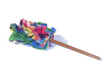 Cat Toy - Fleece Cat Duster - Cat Teaser - Cat Wand Toy