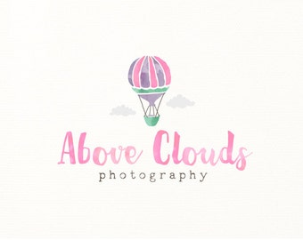 hot air balloon logo watercolor painted photography - Logo Design #600