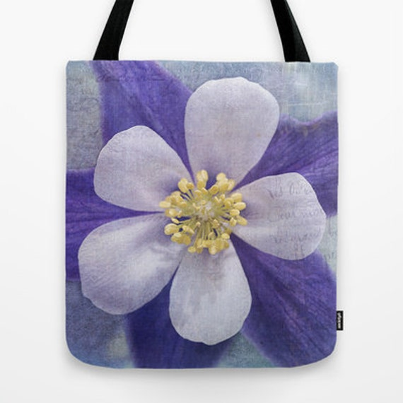 Columbine Photo Tote Bag, Everyday Bag, Tote Bag, Tote, Photography, Flower, Floral, Travel Bag, Teacher Gift, Unique Gift, Garden, Gifts
