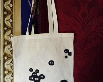 Dust bunnies (Ghibli) screenprinted tote bag - Susuwatari