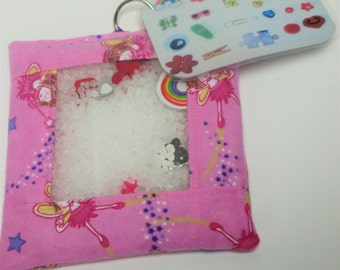 Pink fairy busy bag, sensory toy, travel activity, quiet activity