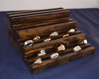Tiered Jewelry Store Ring Display / Multiple Ring Holder / Multiple Ring Display