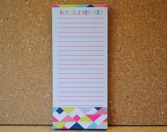 What I Will Conquer Today Geometric Bright ColorsTo Do List Paper Pad