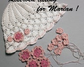 Reserved listing for Marian, crochet hat for baby girls Ready to ship, Christening,Baptism, spring, summer fashion