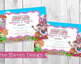 Candyland PRINTABLE Birthday Invitation