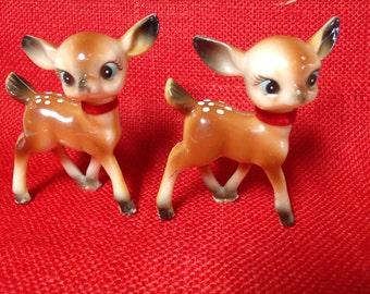 Vintage Deer, Plastic Deer Figurine, Vintage Reindeer, Hard Plastic Deer, Reindeer Figurine