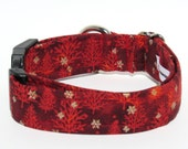 Christmas Dog Collar, Xmas Dog Collar, Dog Collar, Adjustable Dog Collar