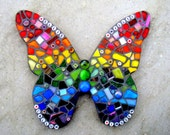 Mosaic Rainbow Butterfly, personalised
