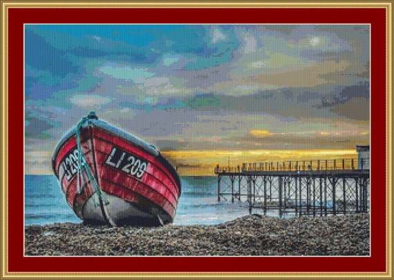 On The Shore Cross Stitch Pattern /Digital PDF Files /Instant downloadable
