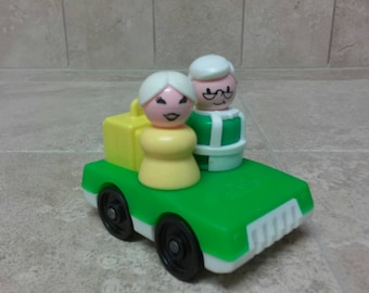 Vintage Fisher Price Little People Grandparents