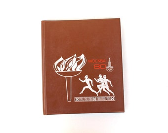 Photo Album Large UNUSED Vintage Photo Album 1980 Moscow Olympic Games Olympic Fire Olympics Collectibles, Olympic Games Collectibles