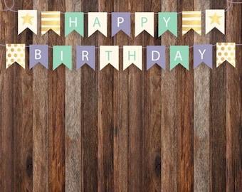 Birthday Bunting -  Photography Backdrop - Photo Prop