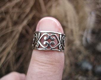 Vintage 925 Sterling Silver Filagree Ring
