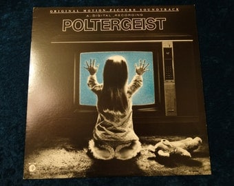 Rare Vintage 1982 Poltergeist Vinyl Record Album Soundtrack Steven Spielberg Horror Movie Sdtrk Ghosts curse
