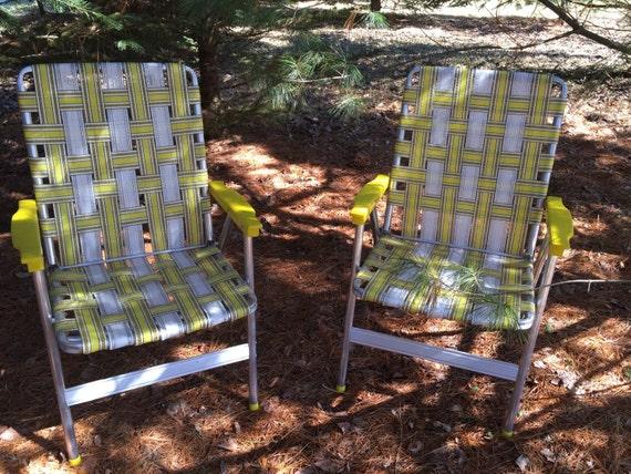1960 S Mid Century Heavy Duty Lawn Chairs Webbed Aluminum