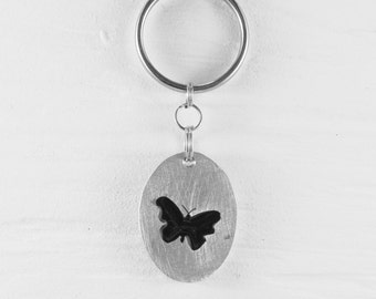 Butterfly keychains :. Aluminum - Insect - Wing - Decoration - Accessory