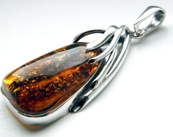 SALE 25% OFF!!! Use the coupon code: SALE25 Baltic amber sterling silver pendant
