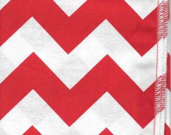 Cloth Napkins: Red & White Chevron
