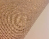 Stardust Gold AIDA 14 Count Fabric. Light reflecting DMC embroidery cotton. Made in the France. European fabric.