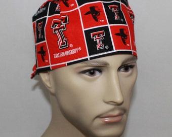 Men's Surgical Scrub Cap-Texas Tech