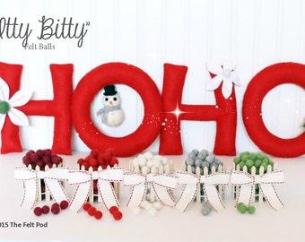 IBY-CH Felt Balls -  1 cm - 50 count - Itty Bitty Felt Balls - Choose Your Color