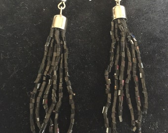 Black Beaded Earings
