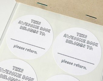 "Book Plates (2"" rounded stickers)"