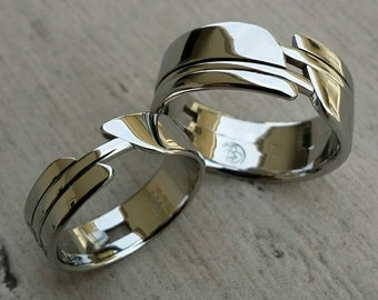 """His & Her's """"OAK"""" set multiple options available  (hypoallergenic- handmade) stainless steel rings limited edition collection"""