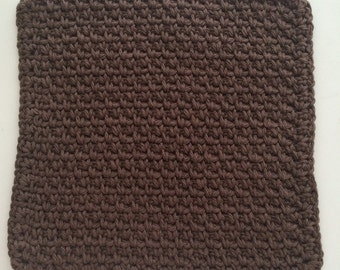 Buy 3 get 1 free. Brown  Dish cloth/Wash cloth- Clearance priced