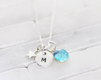 Initial Charm Necklace - Mini Charm Necklace - Gift For Her- Mother's Day Gift - Initial Charm Necklace - Monogram Necklace - Monogram Charm