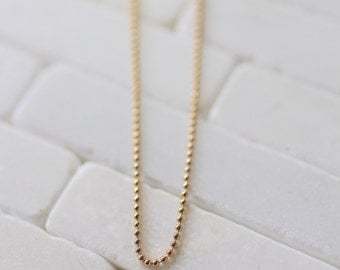 Gold Ball Chain - Ball Chain Necklace  - Gold Necklace - Charm Necklace