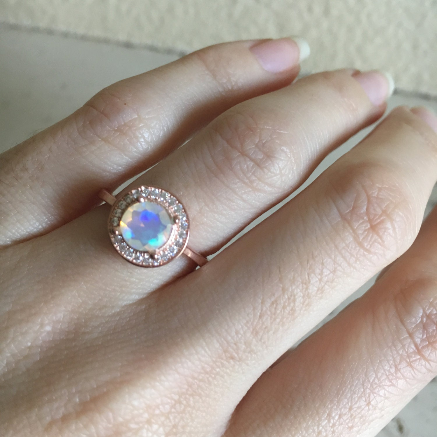 Opal Engagement Rings Fire Opal Engagement R...