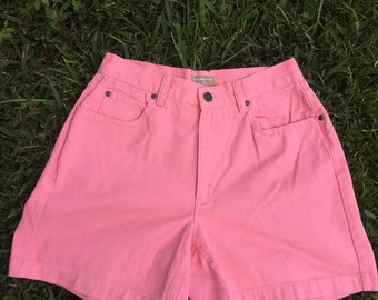 Vintage Pink High Waisted Jean Shorts