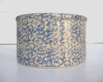 Spongeware Pottery, Crock, Robinson Ransbottom,  Roseville OH,   Farmhouse Kitchen