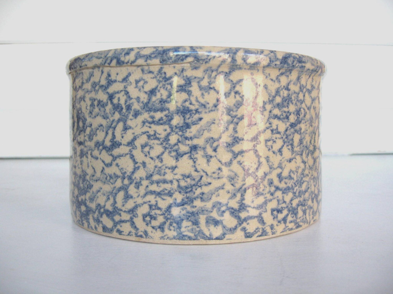 Spongeware Pottery Crock Robinson Ransbottom Roseville Oh