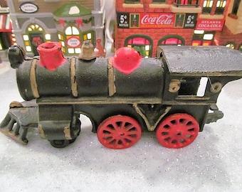 Vintage Cast Iron Train Engine