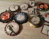 Custom for Hiie. Dance themed jewelry lot with Cyd Charisse, Gene Kelly and Debbie Allen.