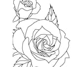 SKETCHED ROSE by KAISERKRAFT - EMBOSsING FoLDeR - A2   Very Beautiful for Card Making -
