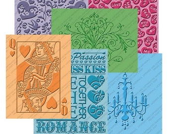 """ROMANCE """" LOVE is In The Air """" - 6 Pc EMBOSSiNG Set for CUTTLEBuG - Valentines- Weddings - etc."""