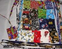 Novelty Fabric Lanyard ID Badge holders with pocket