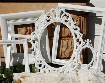 Set Of 6 Picture Frames - Frame Collage - PICTURE FRAME - Shabby Chic Frames