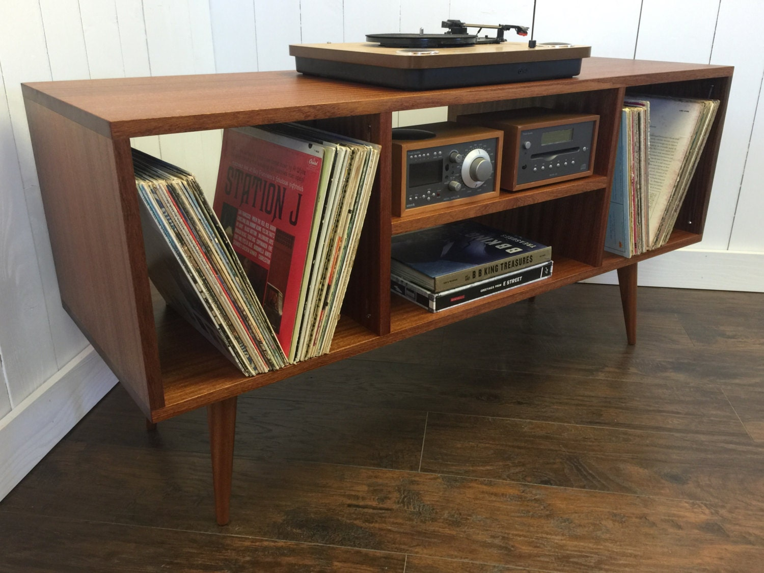 mid century modern stereo turntable console record player. Black Bedroom Furniture Sets. Home Design Ideas