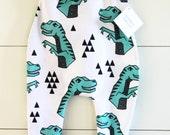 Handmade Hipster Baby Leggings | Baby Harem Pants | Baby Harems | Baby Boy Pants | Baby girl Pants | Dinosaur Print