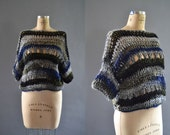Sweaters for women, chunky knit cropped sweater, oversized sweaters, handmade knitwear, winter sweater, crochet sweater